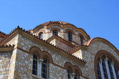 Agios Ioannis Rentis. Dome of Greek Orthodox church in Athens, Greece stock photography