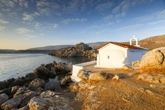Agios Isidoros Chios ö Arkivfoton