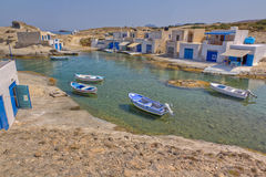 Agios Konstantinos, Milos island, Greece Royalty Free Stock Photography