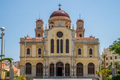 Agios Minas Cathedral Heraklion Royaltyfria Foton