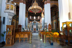 The Agios Minas Cathedral in Heraklion on the Crete island in Greece. Royalty Free Stock Images