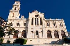 Agios Minas Cathedral Heraklion på ön av Kreta, Grekland Fotografering för Bildbyråer