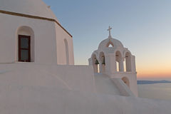 Agios Minas church in Fira at sunset Royalty Free Stock Image