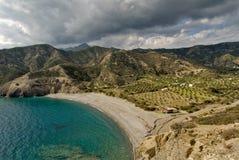 Agios Minas-Strand Griechenland-, Karpathos-Insel Stockbild
