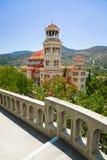 Agios Nectarios de la iglesia en la isla Aegina, Grecia Imágenes de archivo libres de regalías