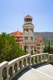Agios Nectarios de la iglesia en la isla Aegina, Grecia Fotos de archivo