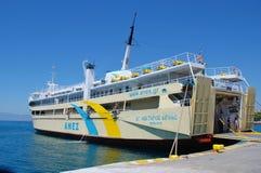 Agios Nektarios Aiginas ferry, Aegina Stock Images