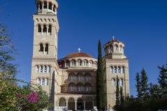 Agios Nektarios Monastery Aegina Island Griechenland Lizenzfreie Stockbilder