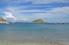 Agios Nicholaos port Arkivbilder