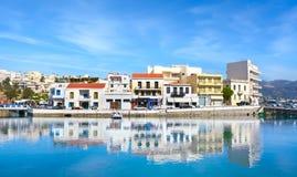 Agios Nicolás crete imágenes de archivo libres de regalías