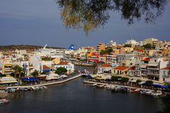 Agios Nicolás, Crete, Grecia imagen de archivo libre de regalías