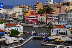 Agios Nicolás, Crete, Grecia imagen de archivo