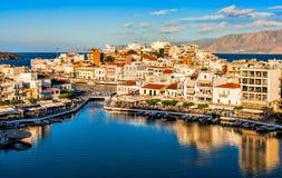 Agios Nicolás, Crete, Grecia foto de archivo