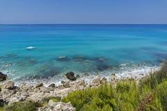Agios Nikitas Beach, Lefkada, Ionian Islands Royalty Free Stock Image