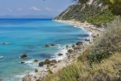 Agios Nikitas Beach, Lefkada, Ionian Islands Stock Photography