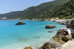 Agios Nikitas Beach, Lefkada, Ionian Islands Royalty Free Stock Photography