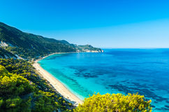 Agios Nikitas beach in Lefkada Island, Greece - Ionian Islands Stock Photography