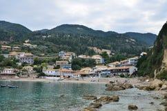 Agios Nikitas-dorp Stock Foto's