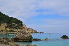 Agios Nikitas-kust Royalty-vrije Stock Foto