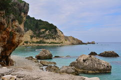Agios Nikitas-kust Stock Afbeelding