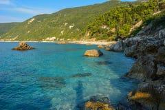Agios Nikitas marino ionico fotografia stock libera da diritti
