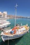 Agios Nikolaos łódź Zdjęcie Royalty Free