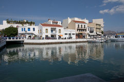 Agios of Nikolaos. Embankment of the city of Agios of Nikolaos.Creta, Greece Royalty Free Stock Photo