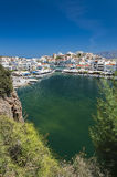 Agios Nikolaos From Above Stock Photography