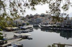 Agios nikolaos bay. Greece Royalty Free Stock Image