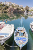 Agios Nikolaos Blue Lagoon Boat Stock Images
