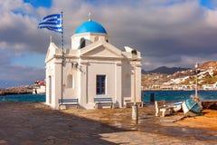Agios Nikolaos Church on island Mykonos, Greece Royalty Free Stock Image