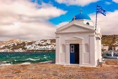 Free Agios Nikolaos Church On Island Mykonos, Greece Royalty Free Stock Photos - 111573118