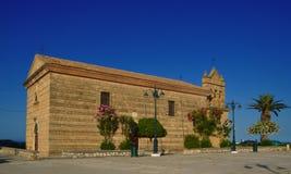 Agios Nikolaos churches in Zakintos. Churches on the sky bright Stock Images