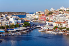 Agios Nikolaos City, Crete, Greece Stock Image