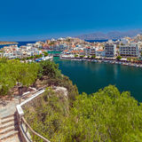 Agios Nikolaos City, Crete, Greece Stock Images