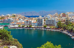 Agios Nikolaos City, Crete, Greece Stock Photography