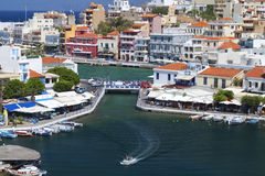 Agios Nikolaos city in Greece Royalty Free Stock Photos