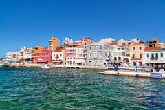 Agios Nikolaos city in Greece Stock Image