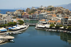 Agios Nikolaos, Crete Fotografia Royalty Free