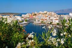 Agios Nikolaos. Crete, Grecja Zdjęcia Royalty Free