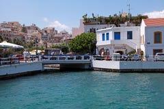 Agios Nikolaos, Crete, Grecja. Zdjęcia Royalty Free