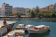 Agios Nikolaos, Crete, Grecja. Obrazy Royalty Free