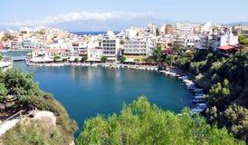 Agios Nikolaos, Crete, Grecja, Europa Zdjęcia Stock