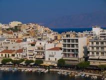 Agios Nikolaos Crete Grecja wakacje Obrazy Royalty Free