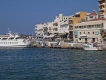 Agios Nikolaos Crete Greece holidays. The sea promenade of Agios Nikolaus Crete Greece Royalty Free Stock Photography