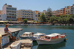 Agios Nikolaos, Crete, Greece. Royalty Free Stock Images
