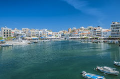 Agios Nikolaos in Crete Stock Images