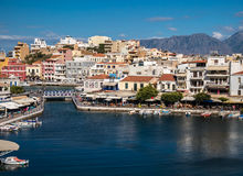 Agios Nikolaos in Crete, Greece Royalty Free Stock Photography