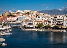 Agios Nikolaos in Crete, Greece Royalty Free Stock Photography