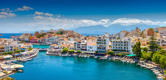 Agios Nikolaos, Crete, Greece. Agios Nikolaos. Agios Nikolaos is a picturesque town in the eastern part of the island Crete built on the northwest side of the